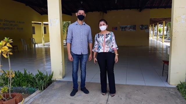 Prefeita e secretário de educação realizam vistoria em escolas da rede municipal de Luís Correia
