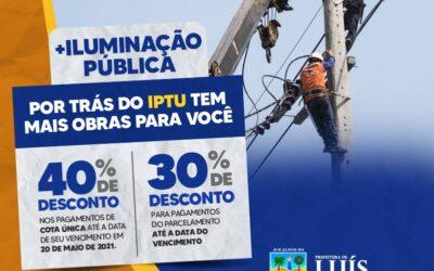 Prefeitura de Luís Correia dará desconto de até 40% no pagamento à vista doIPTU