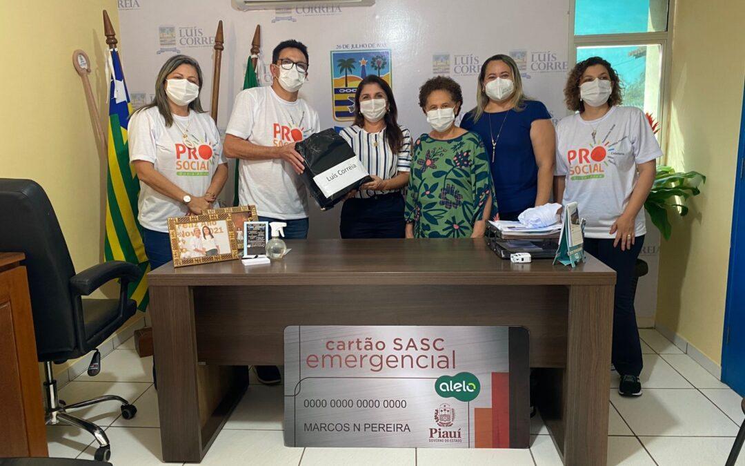 Cartão Sasc Emergencial beneficia 272 famílias em Luís Correia